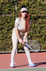 PHOEBE PRICE at a Tennis Courts in Los Angeles 03/02/2021