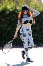 PHOEBE PRICE at a Tennis Courts in Los Angeles 03/18/2021