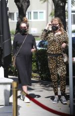 Pregnant ASHLEY TISDALE Out for Lunch in Los Angeles 03/06/2021