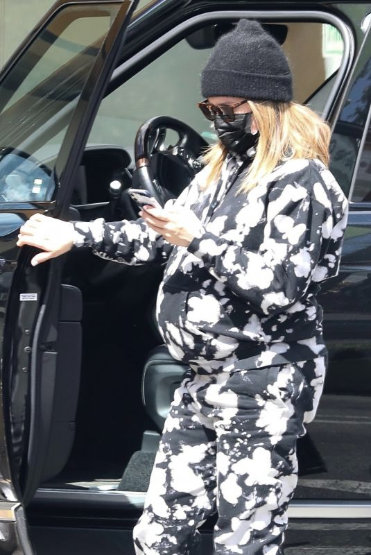Pregnant ASHLEY TISDALE Out in Beverly Hills 03/10/2021