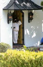 Pregnant ASHLEY TISDALE Outside Her Home in Los Feliz 03/09/2021