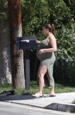 Pregnant BRITTANY CATWRIGHT Out in Los Angeles 03/19/2021