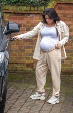 Pregnant CASEY BATCHELOR Out in Hertfordshire 03/18/2021