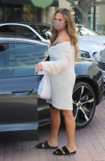 Pregnant CHRISSY TEIGEN Out in West Hollywood 03/24/2021