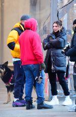 Pregnant EMILY RATAJKOWSKI and Sebastian Bear McClard Out with Their Dog in New York 03/03/2021