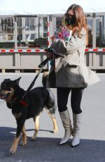 Pregnant EMILY RATAJKOWSKI Out with her Dog in New York 03/03/2021