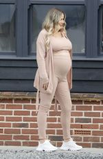Pregnant GEORGIA KOUSOULOU at a Photoshoot in Essex Countryside 03/09/2021