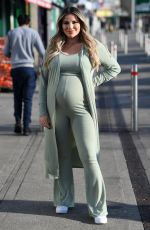 Pregnant GEORGIA KOUSOULOU on the Set of The Only Way is Essex 03/09/2021
