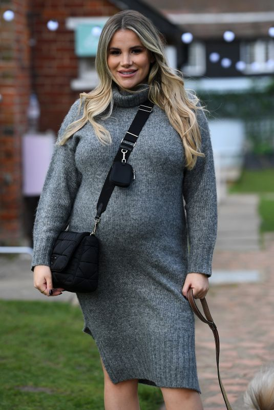 Pregnant GEORGIA KOUSOULOU on the Set of The Only Way is Essex 03/14/2021