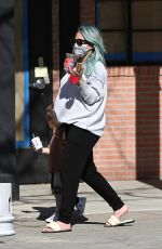Pregnant HILARY DUFF Out for Ice Cream in Los Angeles 03/05/2021
