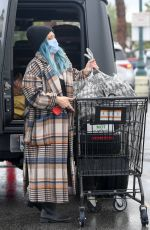 Pregnant HILARY DUFF Shopping for Groceries in Los Angeles 03/11/2021