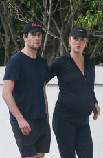 Pregnant KARLIE KLOSS Out in Miami 03/06/2021