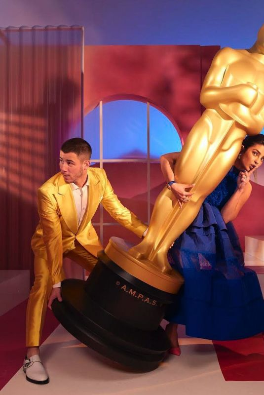 PRIYANKA CHOPRA and Nick Jonas for 93rd Academy Awards Nominations Announcement, March 2021