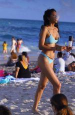 REBECCA SCOTT in Bikini on the Beach in Miami 02/28/2021
