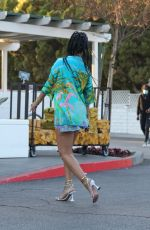 RIHANNA in a Denim Skirt Shopping at Bristol Farms in Beverly Hills 03/29/2021