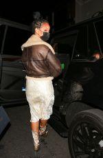 RIHANNA Leaves Nobu in West Hollywood 03/23/2021