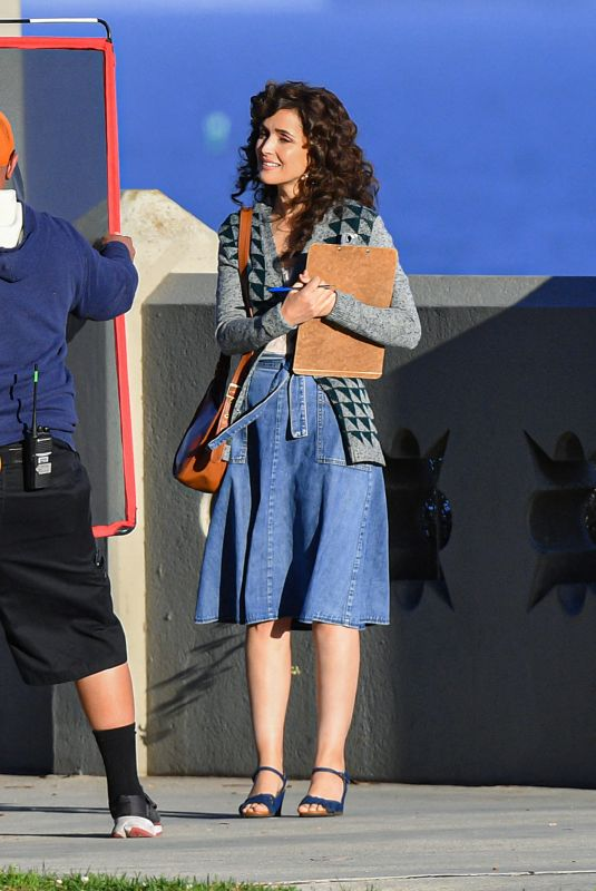 ROSE BYRNE on the Set of Physical in Los Angeles 03/09/2021