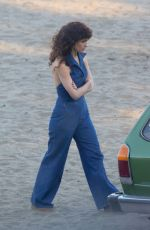 ROSE BYRNE on the Set of Physical in San Pedro Beach 03/01/2021