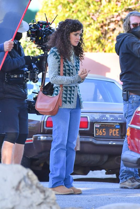 ROSE BYRNE on the Set of Physical in Santa Monica 03/11/2021