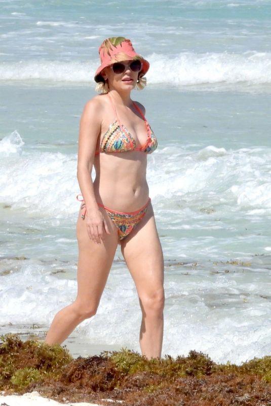 ROSE MCGOWAN in Bikini at a Beach in Mexico 03/23/2021