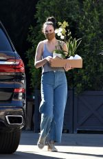 RUMER WILLIS Shopping for Flowers at Rolling Greens Nursery in Los Angeles 03/05/2021