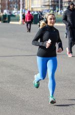 SAFFRON BARKER Out Jogging in Brighton 03/16/2021