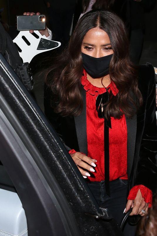 SALMA HAYEK Leaves Craig's Restaurant in West Hollywood 02/28/2021