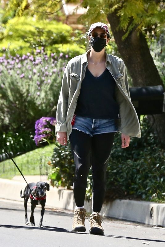 SARAH SILVERMAN Out with Her Dog in Los Feliz 03/17/2021