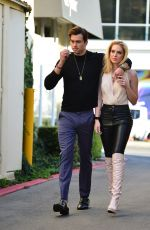 SAXON SHARBINO Out for Lunch in Los Angeles 03/10/2021