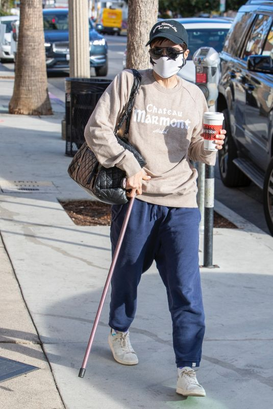 SELMA BLAIR Out for Coffee in Los Angeles 03/11/2021