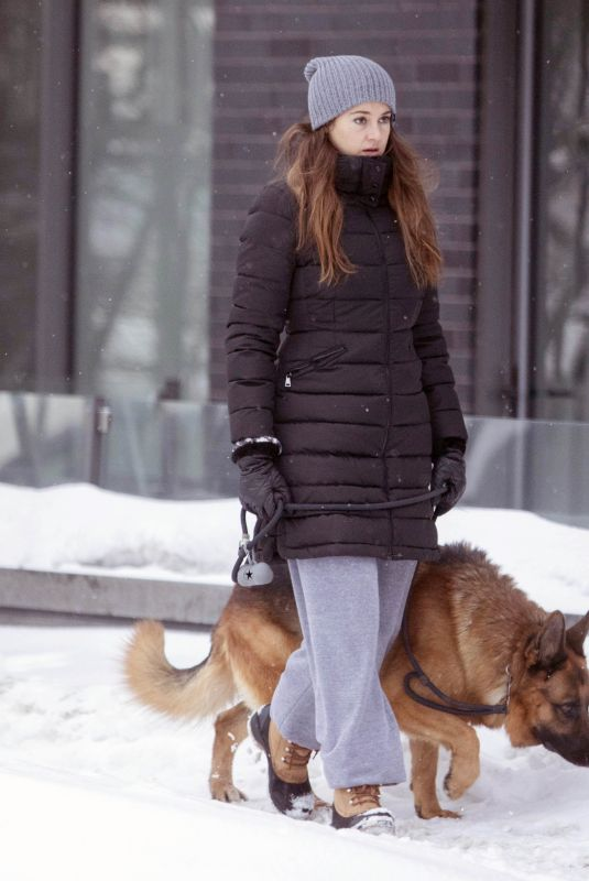 SHAIELENE WOODLEY Out with Her Dog in Montreal 02/25/2021