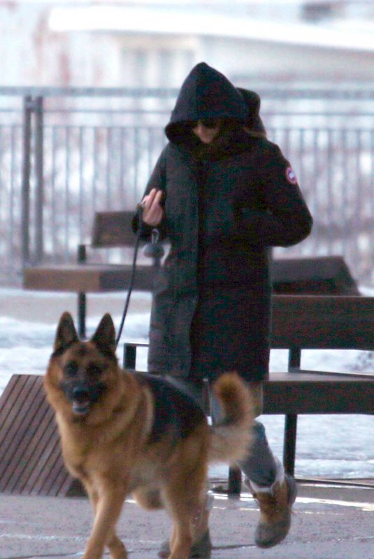 SHAILENE WOODLEY Out with Her German Shepherd in Montreal 03/16/2021