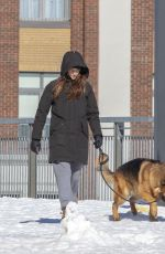 SHAILENNE WOODLEY Out with Her Dog in Montreal 03/04/2021