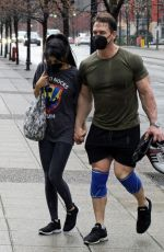 SHAY SHARIATZADEH and John Cena Leaves a Gym in Vancouver 03/21/2021