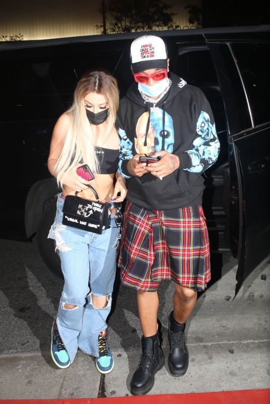 TANA MONGEAU and Tyla Yaweh at Boa Steakhouse in West Hollywood 03/05/2021