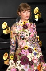 TAYLOR SWIFT at 2021 Grammy Awards in Los Angeles 03/14/2021