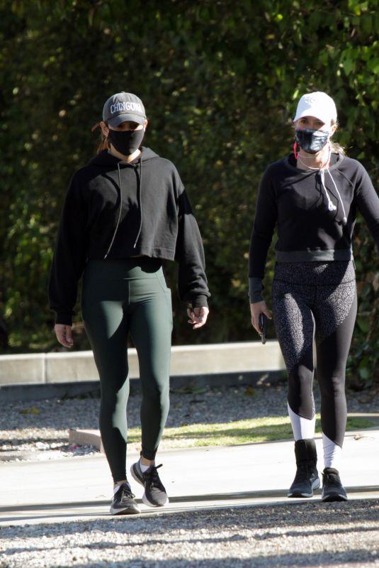 TEDDI JO MELLENCAMO Out Jogging with a Friend in Los Angeles 03/19/2021