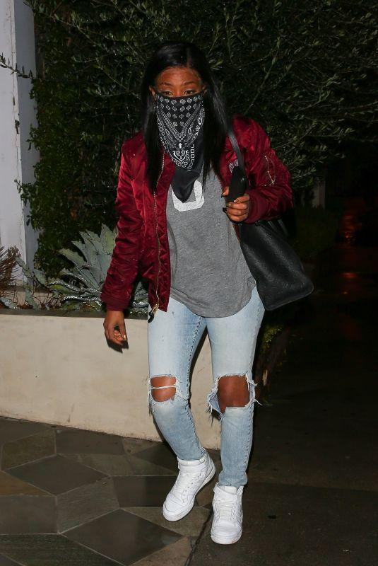 TIFFANY HADDISH at Catch LA in West Hollywood 03/11/2021