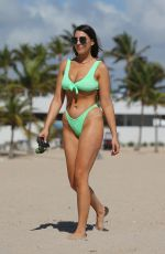 VICTORIA LARSON in Bikini at a Beach in Ft. Lauderdale 02/27/2021