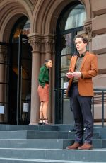 WHITNEY PEAK, ELI BROWN and Joshua Safran on the Set of Gossip Girl 03/24/2021