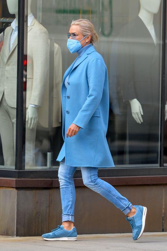 YOLANDA HADID Out in New York 03/11/2021