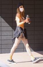 ALESSANDR AMBROSIO Arrives at Pilates Class in Los Angeles 04/07/2021