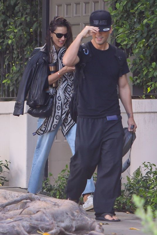 ALESSANDRA AMBROSIO and Richard Lee Out in Los Angeles 04/26/2021