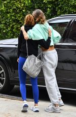 ALESSANDRA AMBROSIO Arrives at Pilates Class in Beverly Hills 04/13/2021