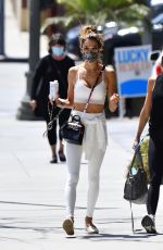 ALESSANDRA AMBROSIO Heading to a Gym in Brentwood 04/15/2021