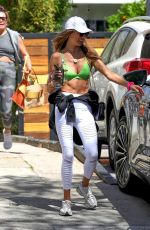 ALESSANDRA AMBROSIO Leaves Pilates Class in Los Angeles 04/08/2021