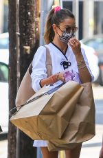 ALESSANDRA AMBROSIO Out Shopping in the Pacific Palisades 04/17/2021