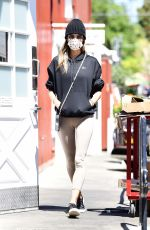 ALESSANDRA AMBROSIO Shopping at Brentwood Country Mart 04/15/2021