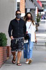 ALESSANDRA AMBROSIOand Richard Lee Heading to Lunch in Brentwood 04/21/2021