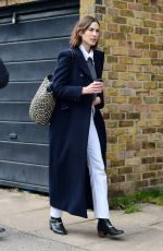 ALEXA CHUNG Out House Hunting in London 04/08/2021